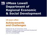 umass lowell department of regional economic social development