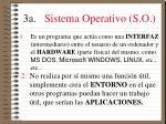 3a sistema operativo s o