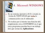 4 microsoft windows