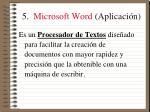 5 microsoft word aplicaci n