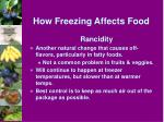 how freezing affects food2