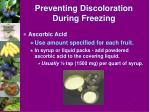 preventing discoloration during freezing1