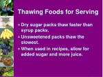 thawing foods for serving1
