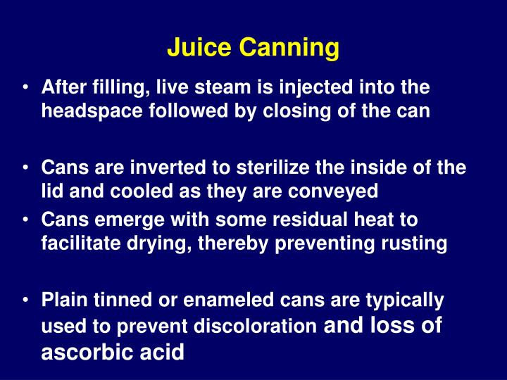 Juice Canning