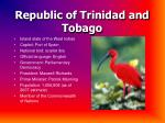 republic of trinidad and tobago