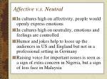 affective v s neutral