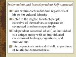 independent and interdependent self construal