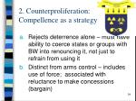 2 counterproliferation compellence as a strategy