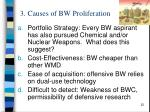 3 causes of bw proliferation