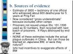 b sources of evidence