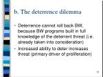 b the deterrence dilemma