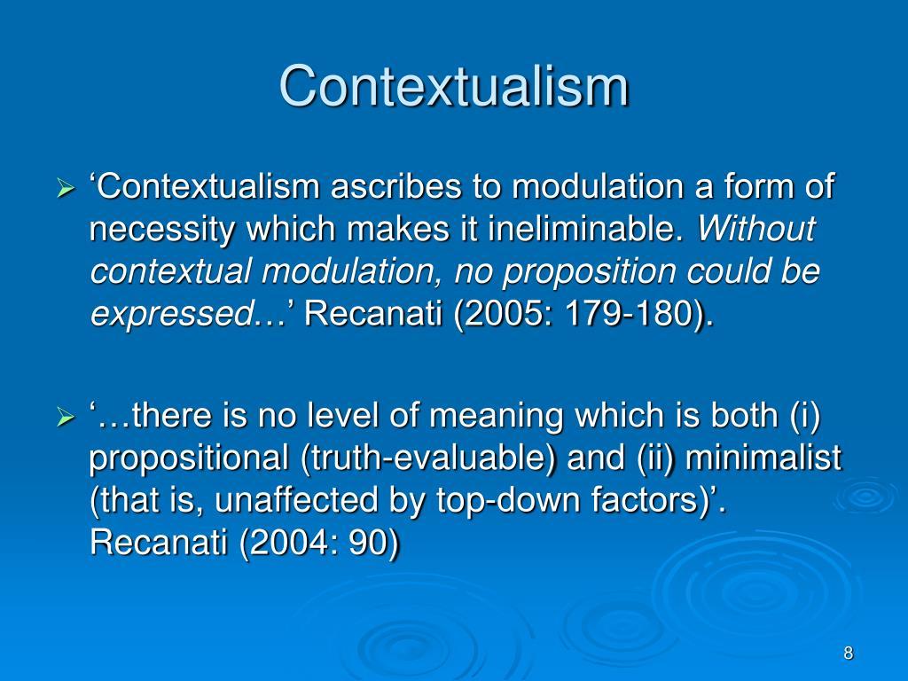 Contextualism