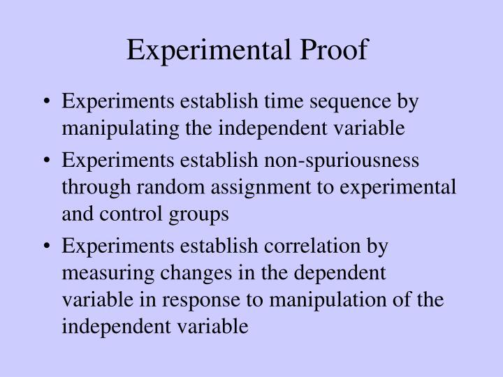 Experimental Proof