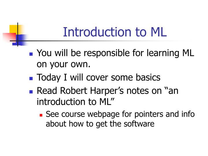 introduction to ml n.
