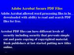 adobe acrobat secure pdf files