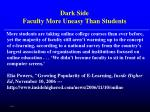 dark side faculty more uneasy than students