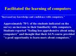 facilitated the learning of computers