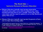 the dark side instructor burnout in distance education
