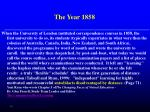 the year 1858