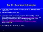 top 10 e learning technologies