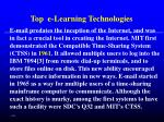 top e learning technologies