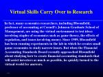 virtual skills carry over to research37