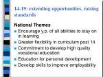 14 19 extending opportunities raising standards12