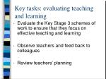 key tasks evaluating teaching and learning