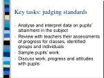 key tasks judging standards