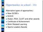 opportunities in school 14