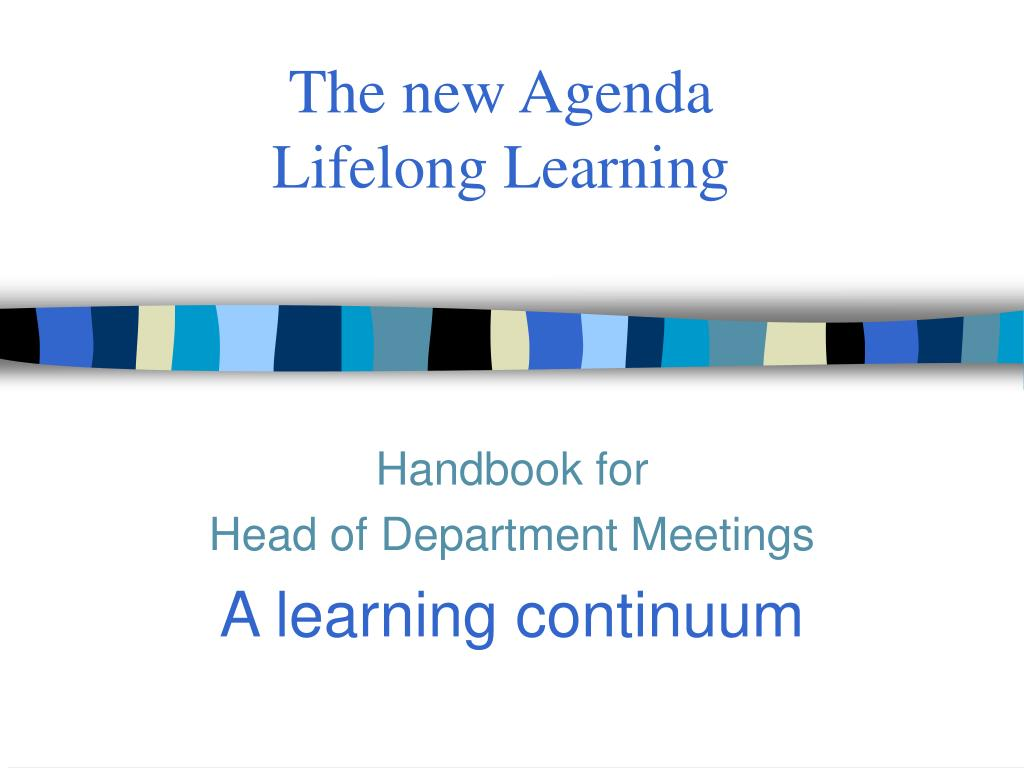 the new agenda lifelong learning l.