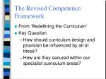 the revised competence framework