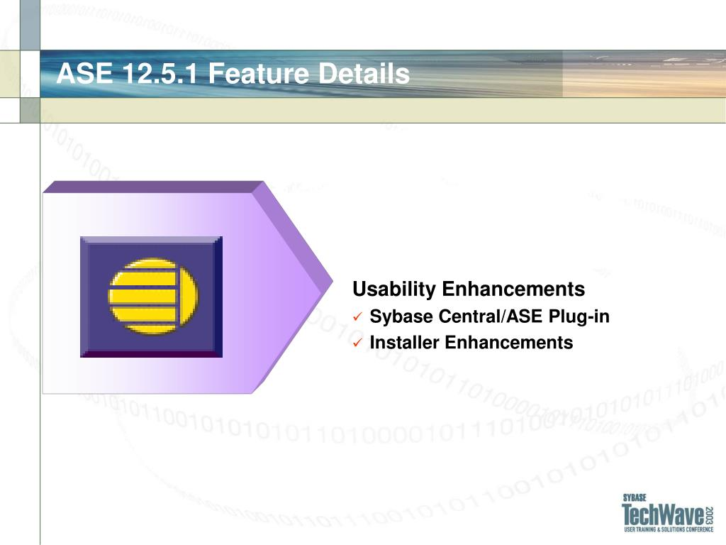 ASE 12.5.1 Feature Details