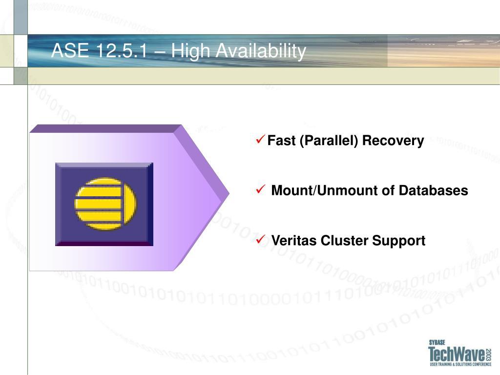 ASE 12.5.1 – High Availability