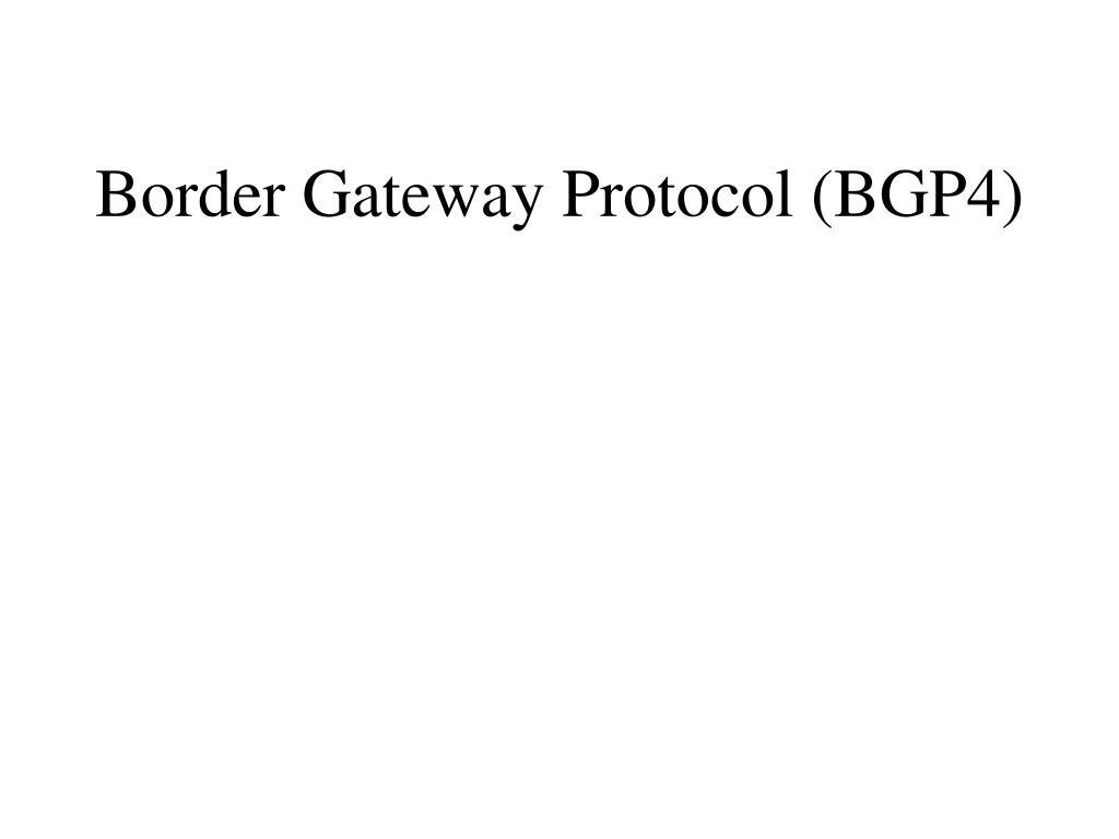 border gateway protocol bgp4 l.