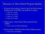 measures of after school program quality
