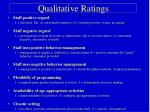 qualitative ratings
