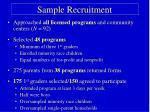 sample recruitment