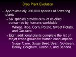 crop plant evolution
