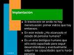implantaci n