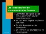 las fallas naturales del proceso generativo humano