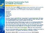classifying transformative tech the niscb tech pentad