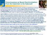 consciousness as neural synchronization from the cybertwin to the cyberself