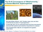the ia ai convergence of metahumanity a human machine superorganism