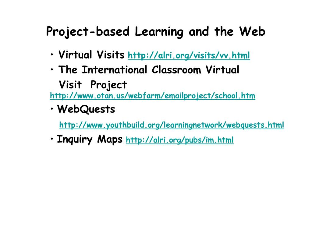 Project-based Learning and the Web