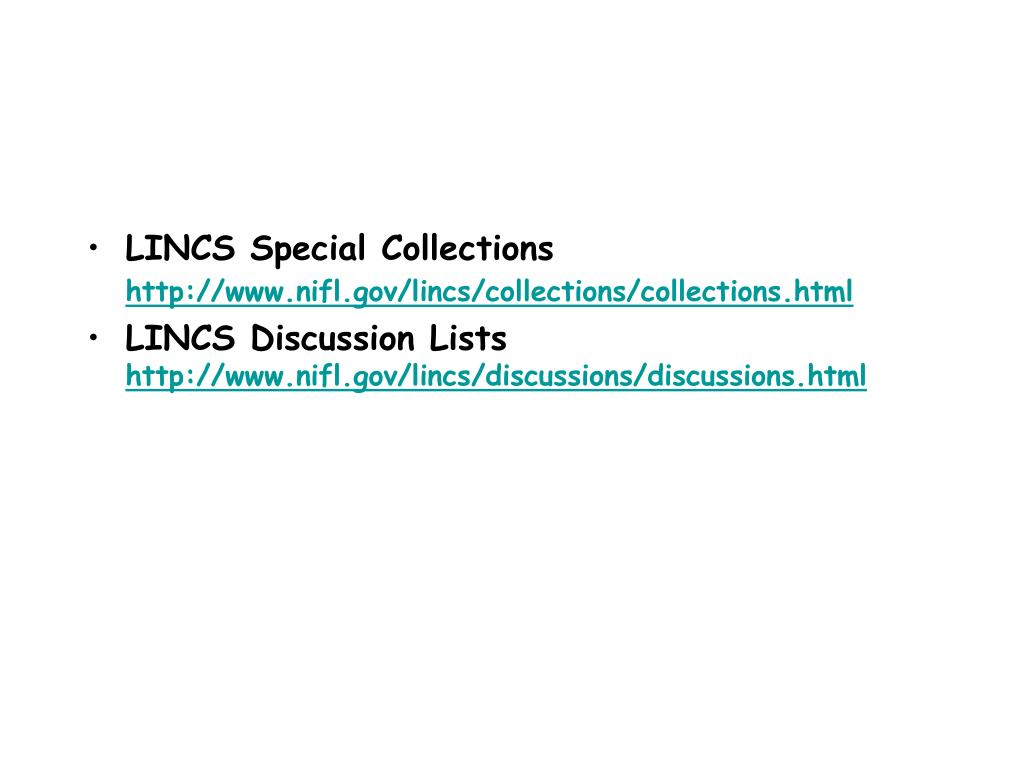 LINCS Special Collections