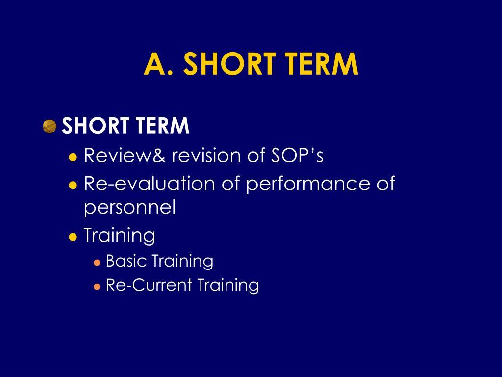 A. SHORT TERM