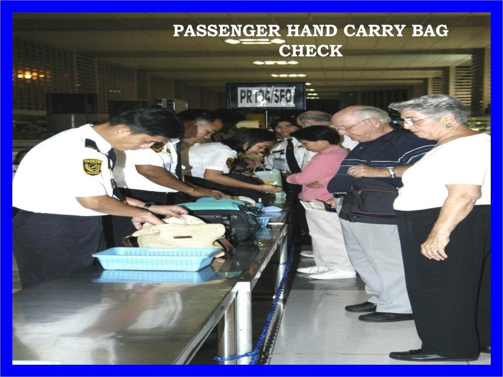 PASSENGER HAND CARRY BAG