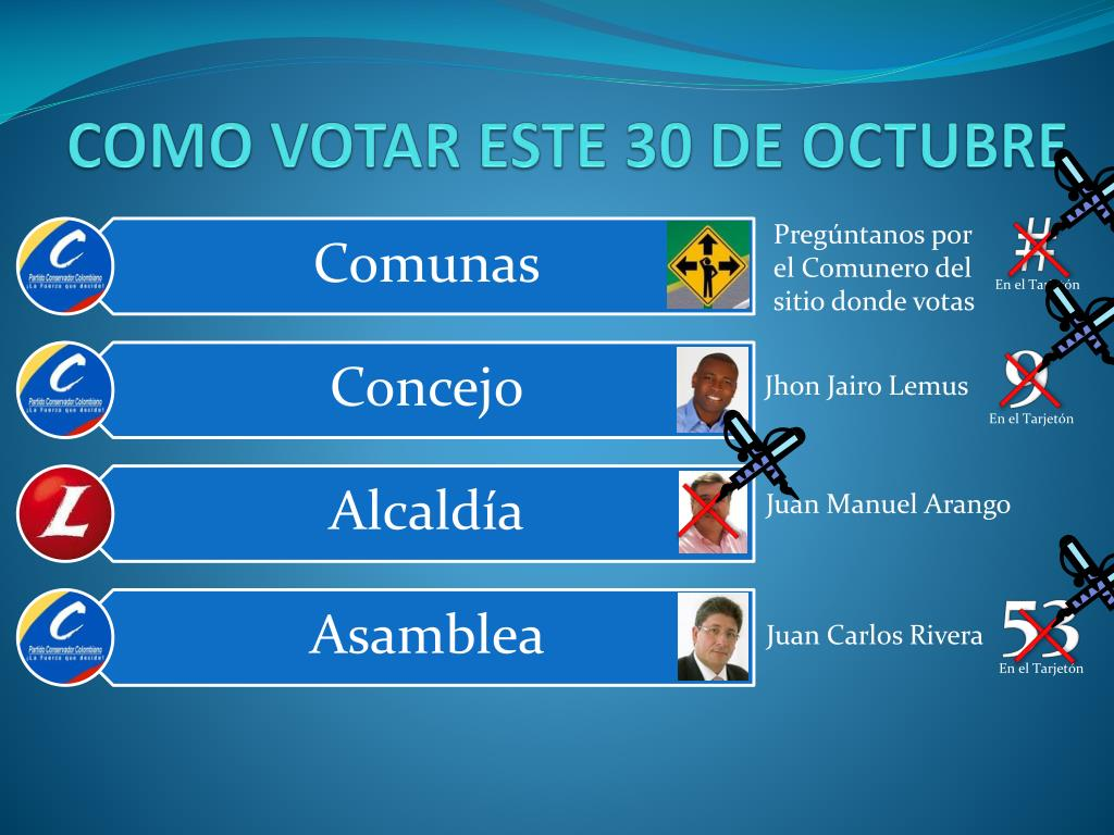 como votar este 30 de octubre l.