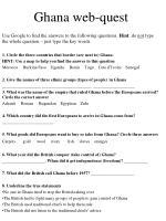 ghana web quest